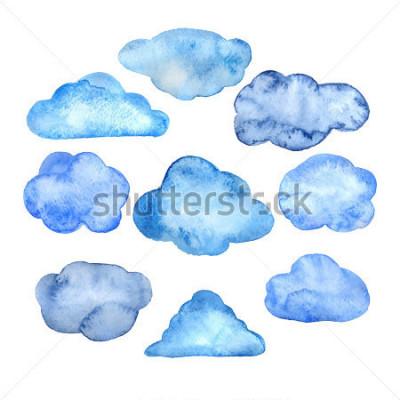Nálepka Watercolor clouds set
