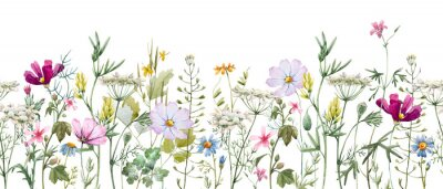 Nálepka Watercolor floral pattern
