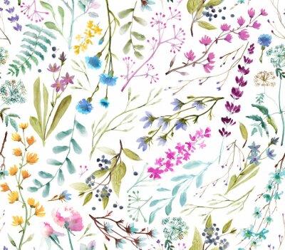 Nálepka  Watercolor flowers. Seamless watercolor pattern.
