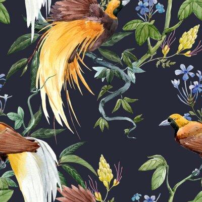 Nálepka Watercolor tropical seamless pattern