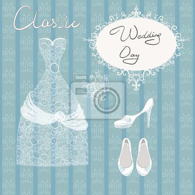 wedding dress shoes set roses