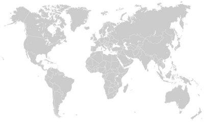 Nálepka Weltkarte - Lesonal (Hoher Detailgrad)