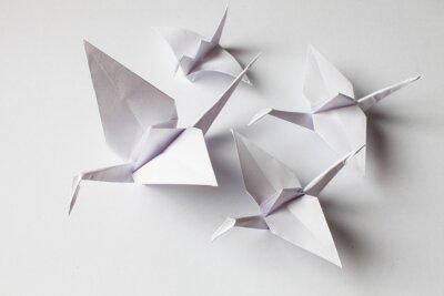 Nálepka White crane handmade