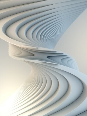 Nálepka White stripe pattern futuristic background. 3d render illustration