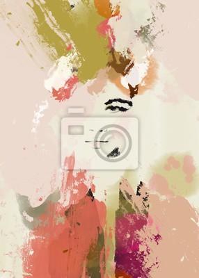 Nálepka Woman face beauty