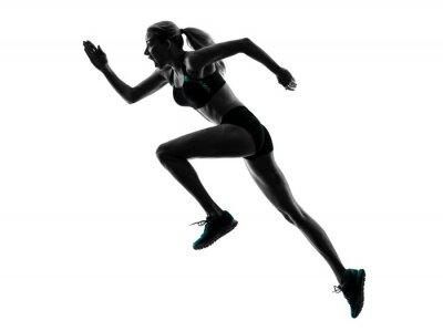Nálepka woman runner running jogger jogging silhouette