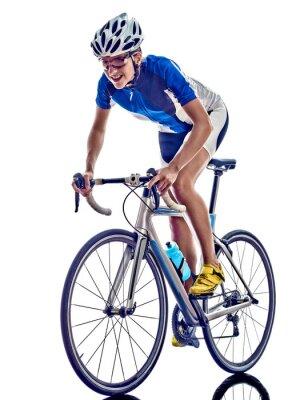 Nálepka woman triathlon ironman athlete cyclist cycling
