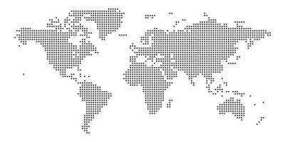 Nálepka World map black point white background isolated . Vector illustration.