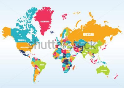 Nálepka World map-countries