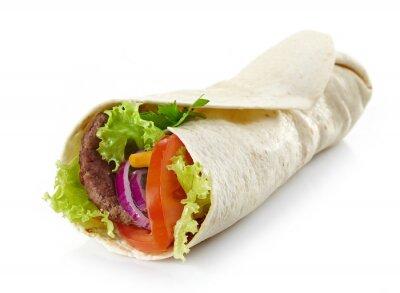 Nálepka Wrap s masem a zeleninou