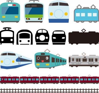 Nálepka 電車 と 新 幹線 の ア イ コ ン と ラ イ ン