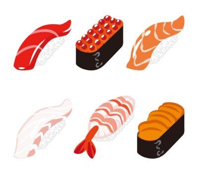 Nálepka 寿司 六 貫 白 バ ッ ク セ ッ ト - Sushi Šest set Objects