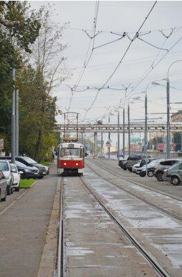 Nálepka Трамвай в начале Волоколамского шоссе (Москва)