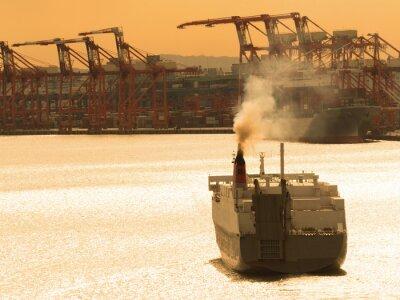 Nálepka 出航 す る 貨物 船
