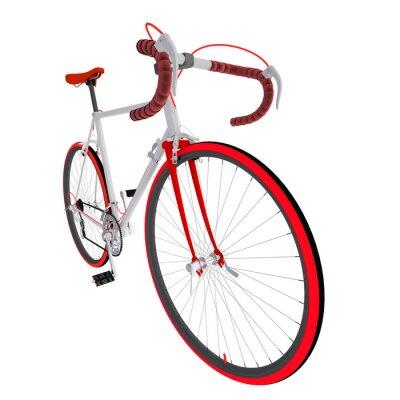 Nálepka Велосипед на белом фоне