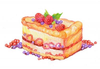 Nálepka торт с ягодами