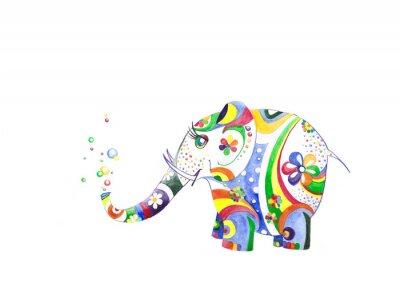 Nálepka Цветной слонёнок