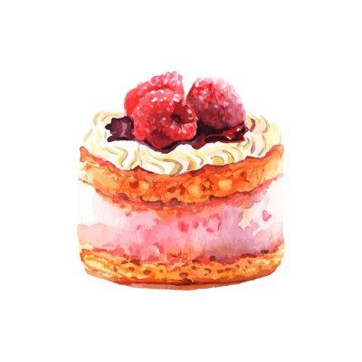 Nálepka Сake s ovocem tažené akvarel. Design pro kartu, transparenty.