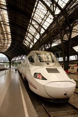 Nálepka Alvia vlakové nádraží ve Francii, Barcelona, Španělsko