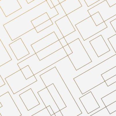 Nálepka Geometrický vektorový vzor, opakující se tenký tvar čtvercového čtverce a obdélník. Čistý design pro tapety tkaniny malované. Vzor je na panelu Vzorník