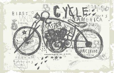 Nálepka Мотоцикл