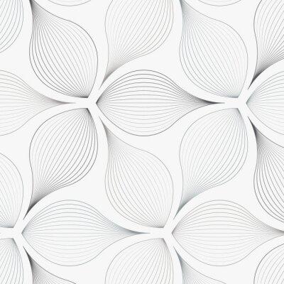 Nálepka lineární vektor vzor, opakující se abstraktní květinové listy, šedá čára listu nebo květiny, květinové. grafický čistý design pro látku, událost, tapetu atd. vzor je na panelu vzorníku.