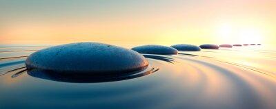 Nálepka Steine im Wasser 3