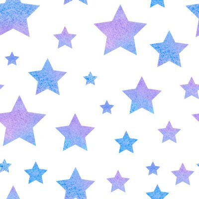 Nálepka watercolor сute seamless pattern night sky for the textile fabric or wallpaper.