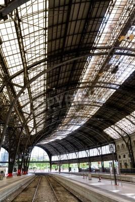Nálepka Zajímavé železniční stanice uvnitř foto