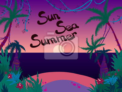 západ slunce moře pláž dovolená