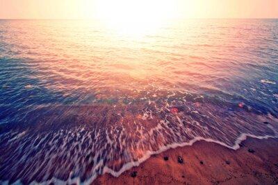 Nálepka Západ slunce nad mořem.