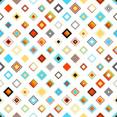 Nálepka Zářivě barevné bezešvé geometrický vzor s Squares