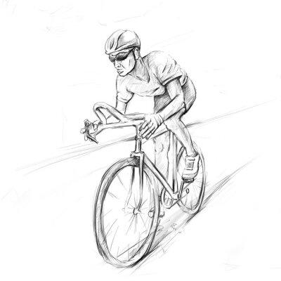 Nálepka závodní cyklista