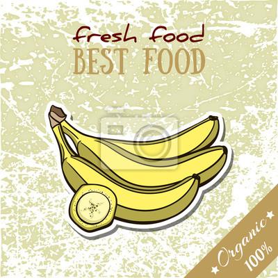Nálepka Zdravé jídlo Banana