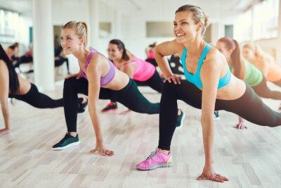Nálepka Zdravý a fit žen dělá fitness