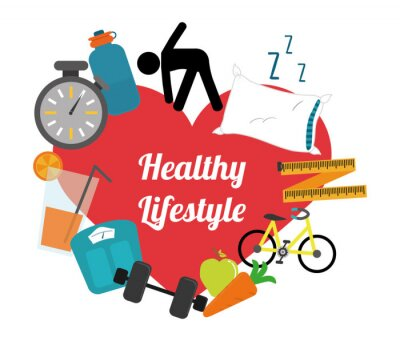 Nálepka zdravý životní styl
