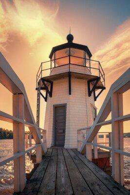 Nálepka Zdvojnásobení Lighthouse Point v Maine, USA