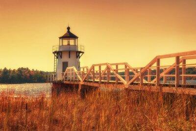 Nálepka Zdvojnásobení Lighthouse Point v Nové Anglii