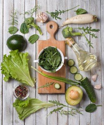 Nálepka zelená zelenina