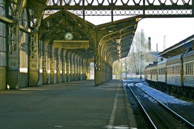 Nálepka Železniční stanice, hodiny, a
