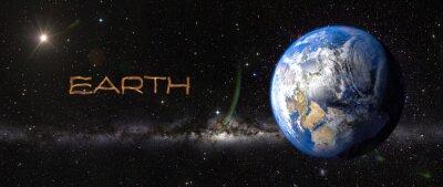 Nálepka Země ve vesmíru.
