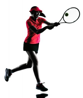 Nálepka Žena tenista silueta smutek