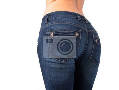 fbfe92aa41d Ženský zadek v slim džíny fit nálepky na notebook • nálepky na zeď ...