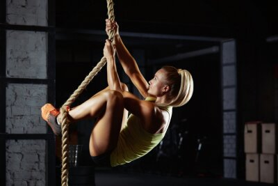 Nálepka Ženy crossfit sportovec cvičení