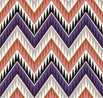 Nálepka Zig Zag bezešvé texturami textilní vzor