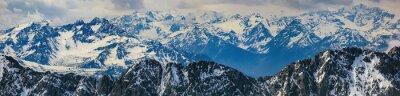 Nálepka Zimní krajina panorama horských Alpy