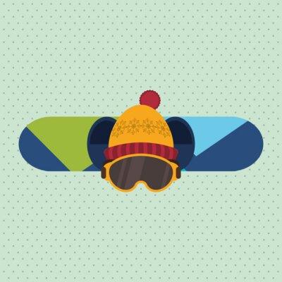 Nálepka zimní sportovní design