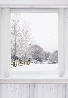 Nálepka Zimní Window