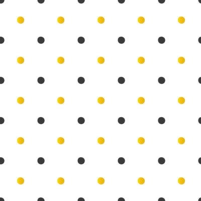 Nálepka Zlaté a černé puntíky bezešvé podtisk.