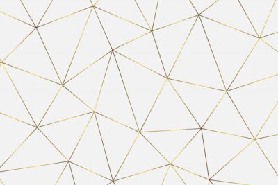 Nálepka zlaté geometrické pozadí
